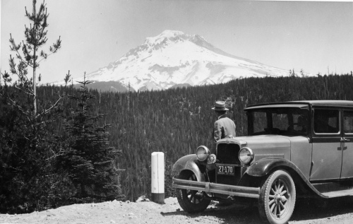 Car and Mountain big