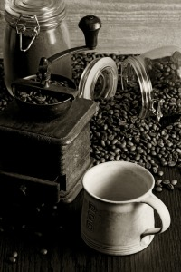 Coffee and grinder