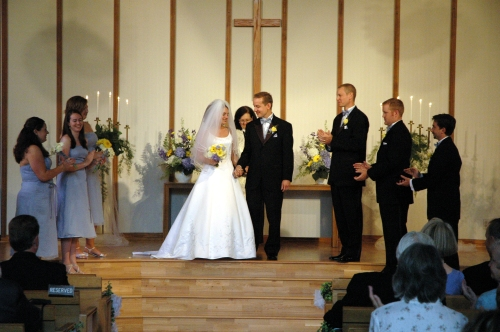 Just married; August 21, 2004