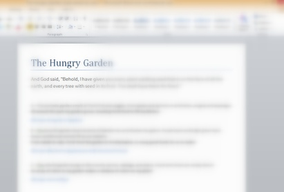 the Hungry Garden